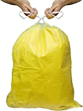 SAHIL EPIDO Drawstring Garbage Bags, 30 L, 60 Pieces, Medium (Yellow)