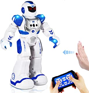 AILUKI Remote Control Robots For Kids - Walking Control RC Robot Infrared Control Toys with LED Light,Singing and Dancing,...