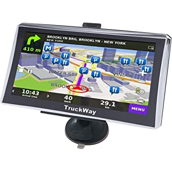 """TruckWay GPS - Pro Series Model 720 - Truck GPS 7"""" Inch for Truck Drivers Navigation Lifetime North America Maps (USA + Canada) 3D & 2D Maps, Touch Screen, Turn by Turn Directions"""