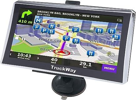 """TruckWay GPS – Pro Series modelo 720 – Camión GPS de 7"""" para camión conductores de navegación Mapas de toda la vida de América del Norte (EE. UU. + Canadá) 3D y 2D mapas, pantalla táctil, girar por dirección"""