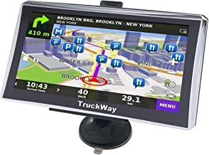 """TruckWay GPS - Pro Series Model 720 - Truck GPS 7"""" Inch for Truck Drivers Navigation Lifetime North America Maps (USA + Ca..."""
