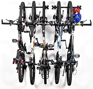 Sunix Bike Storage Rack, Bike Storage Hanger for Home and Garage Wall Mount Hold up to 5 Bicycles