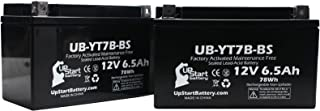 2 Pack - YT7B-BS Battery Replacement (6Ah, 12v, Sealed) Factory Activated, Maintenance Free Battery Compatible with - 2005 Yamaha YFZ450, 2006 Yamaha YFZ450, 2007 Yamaha YFZ450, 2008 Yamaha YFZ450