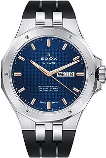 EDOX - Delfin The Original Reloj de Hombre automático 43mm de Goma 88005 3CA BUIR