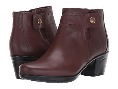 Clarks Emslie Jada (Dark Brown Leather) Women
