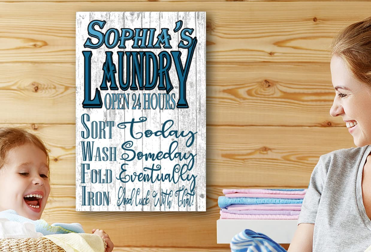 Custom Laundry Fixed price for sale Room Name Challenge the lowest price of Japan ☆ Signs Decor Rustic Ha Home Personalized
