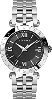 Versace V-Race Black Dial Stainless Steel Men's Watch VCL100017