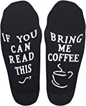 Unisex Novelty Socks If You Can Read This Bring Me Some Wine Coffee Beer Chocolate Funny Saying Socks for Women Men