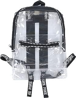Victoria's Secret Pink Backpack Clear Festival Campus Book Bag