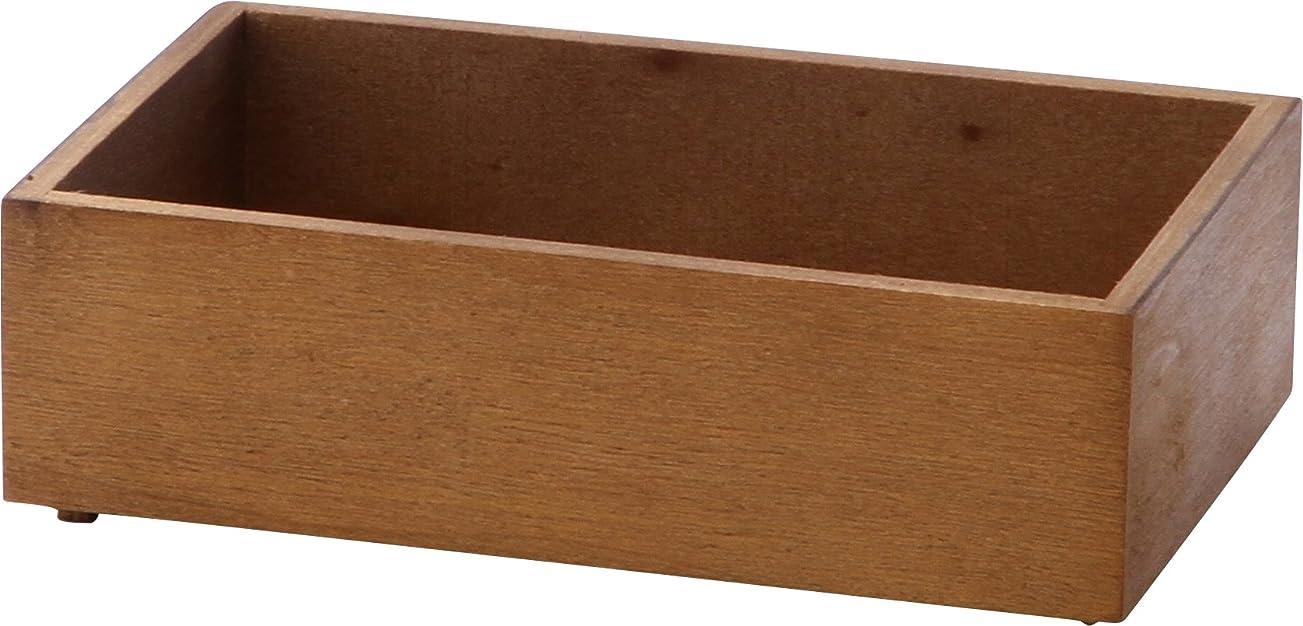 不二貿易 木製スタッキングボックス 仕切り無し ブラウン 31597