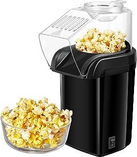 Machine À PopCorn À Air Chaud, 1200W Électrique Machine à Pop Corn, Prêt En 3 Minutes, Sans Matières Grasses, le noir