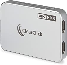 ClearClick 4K HD Capture Stick - Input & Passthrough Up to 4K60 HDR - Record & Live Stream at Up to 1080P60 - Record & Liv...