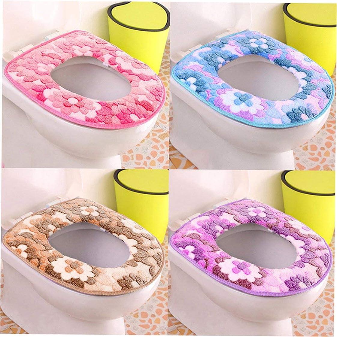 豊富なコスチューム不承認Swiftgood 浴室柔らかく厚い暖かい便座カバーパッド伸縮性洗える布トイレ便座クッション