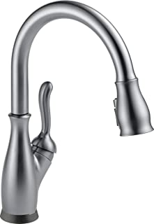 Delta Faucet Leland Single-Handle Touch Kitchen Sink Faucet with Pull Down Sprayer, Touch2O and ShieldSpray Technology, Magnetic Docking Spray Head, Arctic Stainless 9178T-AR-DST (Renewed)