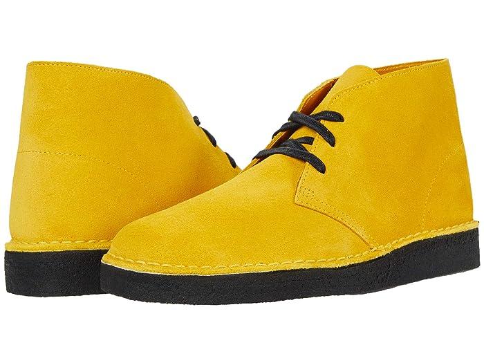 60s Mens Shoes | 70s Mens shoes – Platforms, Boots Clarks Desert Coal Mustard Suede Mens Shoes $119.99 AT vintagedancer.com
