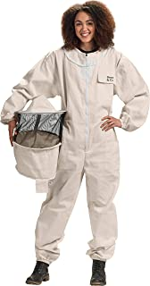 Bees & Co U73 Natural Cotton Beekeeper Suit with Round Veil