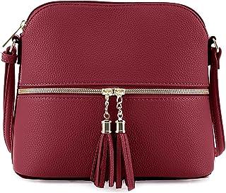 Small Crossbody Bags for Women Purses Fashion Leather Lightweight Handbags Shoulder Bag (BLACK)