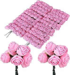 comprar comparacion BUONDAC 144pcs Mini Rosas Flores Ramos de Rosas Artificiales en Espuma para Manualidades Decoración de Boda Fiesta Navidad...