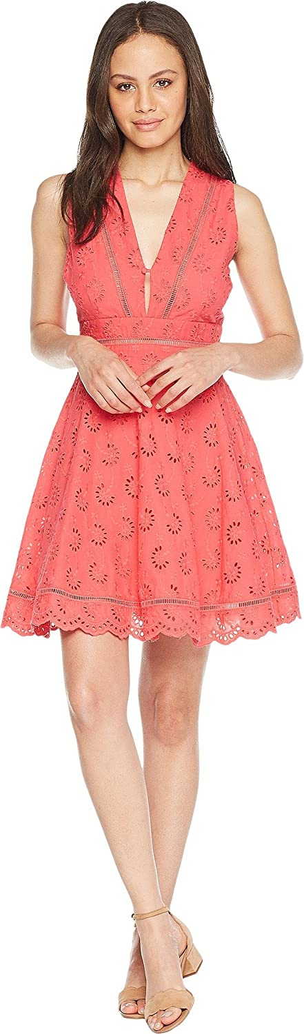 BB Dakota Womens Vianne VNeck Eyelet Dress