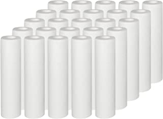 Vyair AquaFilter Lot de 25 cartouches de filtre à eau en polypropylène 10 microns pour éliminer le sable, le limon, la sal...