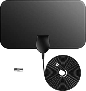 Indoor TV Antenna,Digital HDTV Television Antenna 50 Mile Range 4K 1080P HD VHF UHF Freeview Local Channels and Programming for All Type of Television,No Amplifer