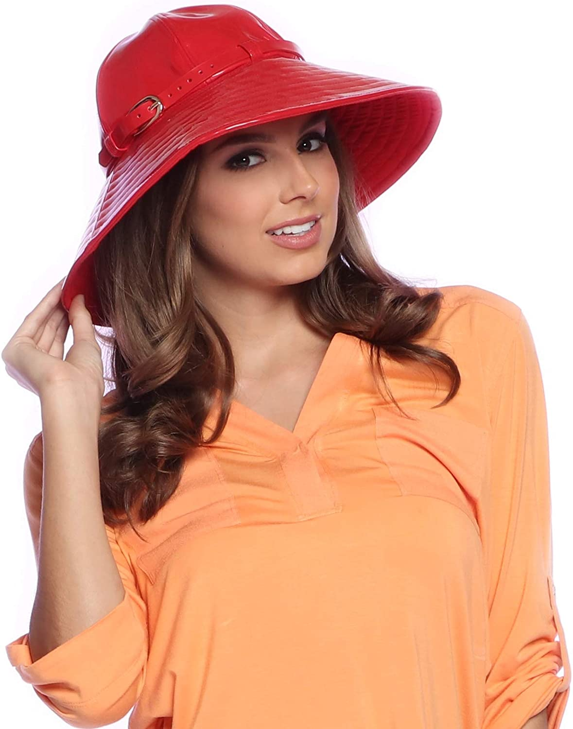 VINRELLA Rain Hat for Woman with Adjustable Chin Strap - Waterproof, Sun Protection, Bucket Hat, Patent Sun Hat, One Size