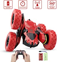 Remote Control Stunt Car - Sugoiti Rc 4WD Rechargeable 2.4GHz 3D Deformation Racing Vehicle,Double Sided Rotating Tumbling 360 Degree Flips Off Road High Speed 7.5MPH Truck, Including Battery