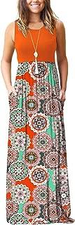 Women's Summer Sleeveless Loose Plain Maxi Dress Casual Long Dress with Pockets