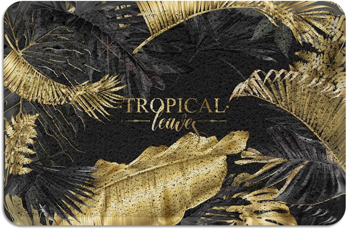 IDOWMAT 2021 autumn and winter new Doormat supreme Absorbent PVC Shoes Plant Tropical Scraper Metal