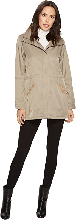 LAUREN Ralph Lauren - Stand Collar Anorak with Faux Leather Details
