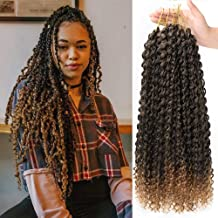 6 Packs Passion Twist Hair Water Wave Crochet Hair Braiding for Passion Twist Crochet Hair Extension Water Wave Braiding Synthetic Braid Hair 18 Inch (T1B/30)