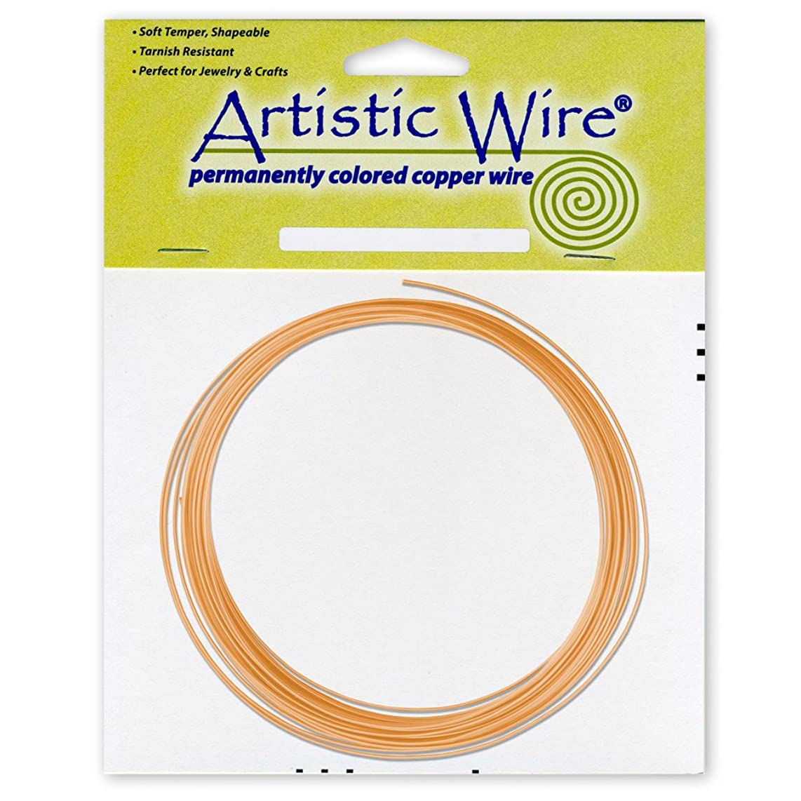 Beadalon AWB-14-BC-25FT Artistic Wire 14-Gauge Bare Copper Coil Wire, 25-Feet