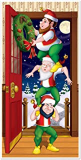 Beistle - Christmas Elves Door Cover