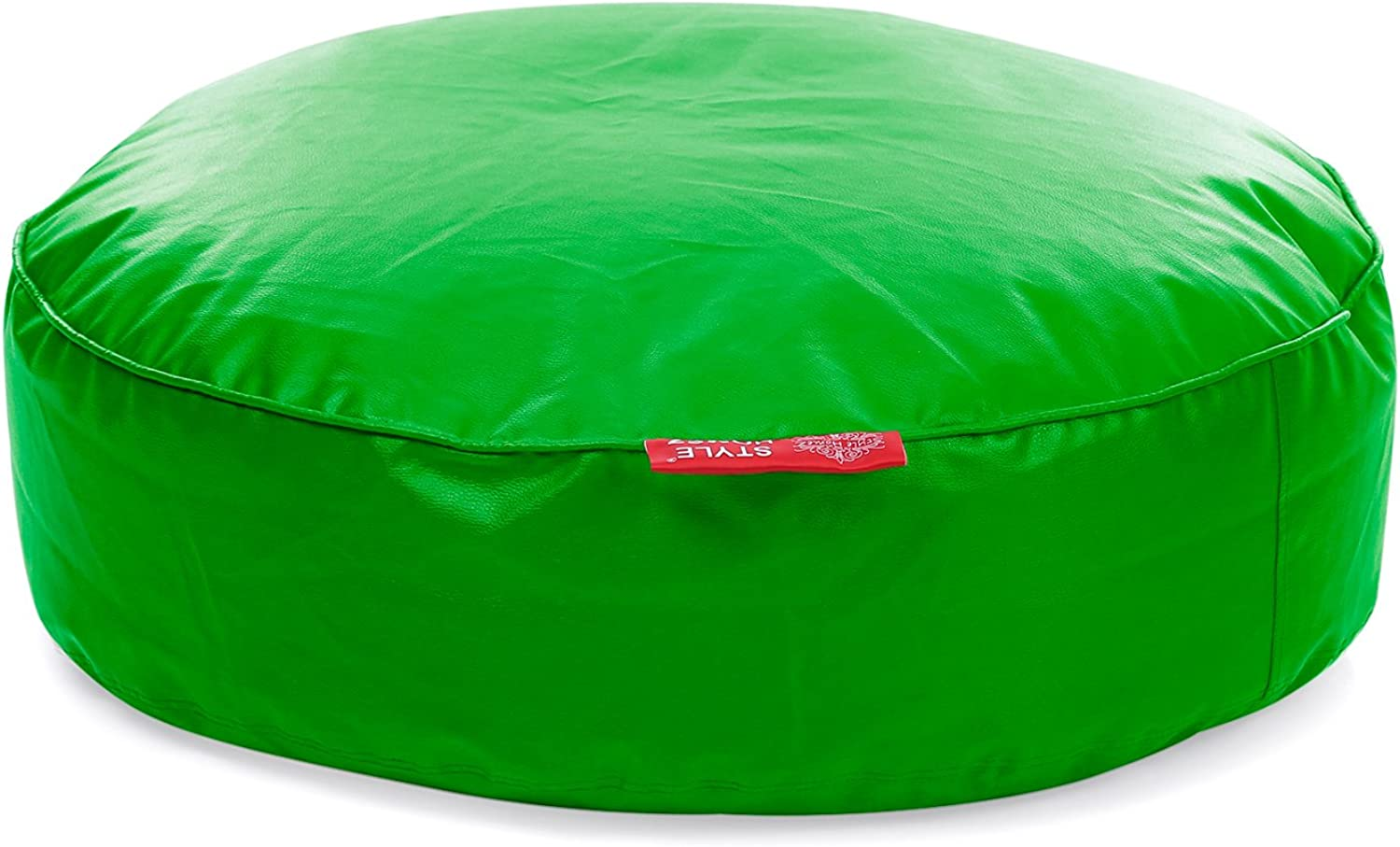 Style Homez Classic Round Floor Cushion XXL size Green color Cover Only