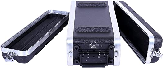 """Crossrock Stackable 2U Rack Case, Strong Molded with Heavy Duty Hardware, Shallow 14.25"""" Depth(CRA8602US)"""