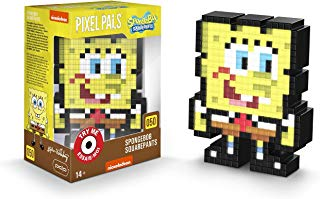 PDP Pixel Pals Nickelodeon Spongebob Squarepants Collectible Lighted Figure, 878-045-NA-SBSP - Not Machine Specific