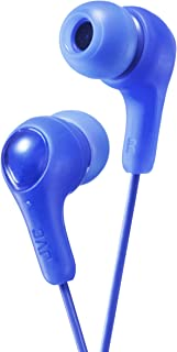 JVC Gumy In Ear Earbud Headphones, Powerful Sound, Comfortable and Secure Fit, Silicone Ear Pieces S/M/L - HAFX7A (Blue) O...
