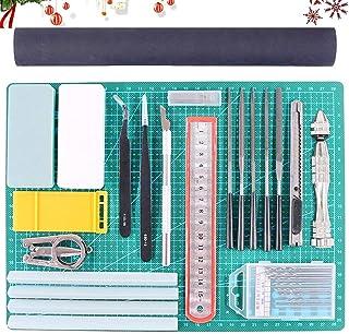 Findfly 27Pcs Gundam Modeller Basic Tools Craft Set Hobby Building Tools Kit for Professional Model Assemble Building