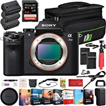 Sony a7 II Full-Frame Alpha Mirrorless Digital Camera 24MP (Black) Body Only a7II ILCE-7M2 with Deco Gear Professional Pho...