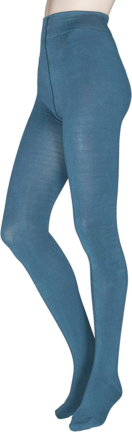 Elgin women/'s super-soft warm bamboo tights in bilberry By Thought
