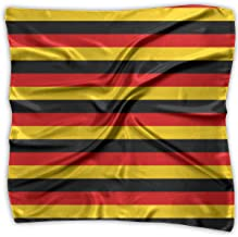 German Flag Square Scarf - Women's Graphic Print Soft Silk 100% Polyester