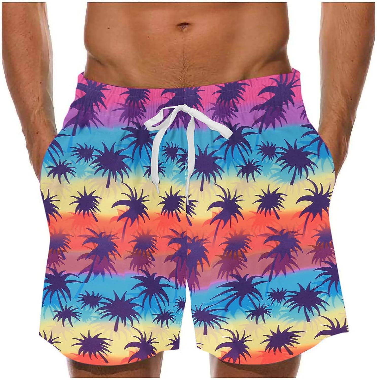 Men's Shorts Beach Shorts Quick Dry Drawstring Pants Short Sweatpants Loose Casual Trouser