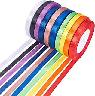 PH PandaHall Elite 10 Rolls 3 8 Inch Satin Fabric Ribbon 10 Colors For Gift Package Wrapping Hair Bow Clips Making Craftin...