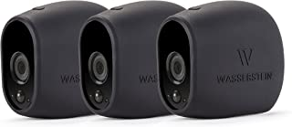3 x Silicone Skins for Compatible with Arlo HD Smart Security - 100% Wire-Free Cameras — by Wasserstein (Black)