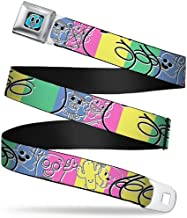 Buckle-Down Seatbelt Belt - TAWG Character Collage Sketch Blocks Multi Color/Black - 1.5