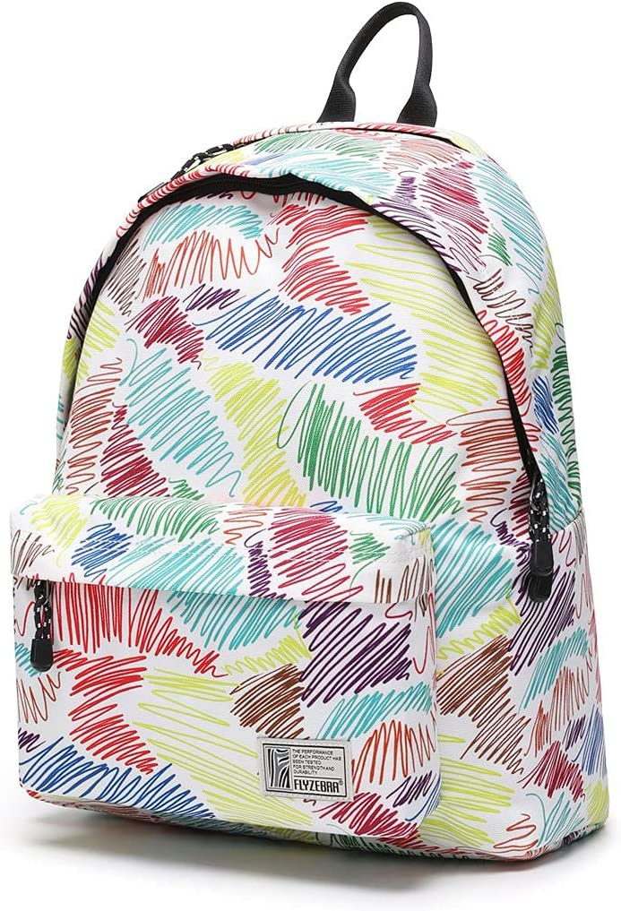 16-inch Creative design of large capacity waterproof fashion backpack bag for women. (colorful graffiti)