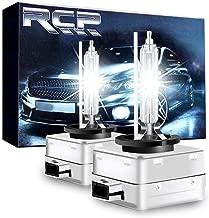 RCP - D3S6 - (A Pair) D3S/ D3R 6000K Xenon HID Replacement Bulb Diamond White Metal Stents Base 12V Car Headlight Lamps Head Lights 35W