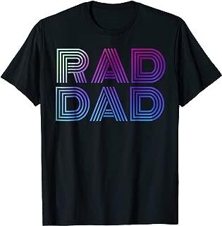 Mens Mens Rad Dad 1980's Retro T-Shirt Fathers Day Shirt