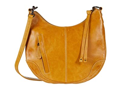 Frye Melissa Small Scooped Hobo Crossbody (Sunflower) Handbags