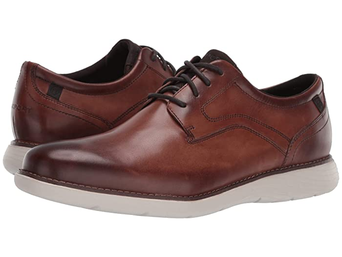 Rockport  Garett Plain Toe (Cognac) Mens Shoes